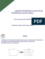 Apresentação - Projeto Cartográfico I
