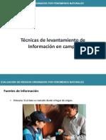 2. Técnicas de Levantamiento de Información en Campo