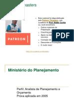 2005-0X - MPOG - TI - Prof Walter Cunha