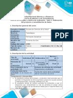 Guía de Actividades y Rúbrica de Calificación - Fase 3 - Elaboración Del Proyecto y Consolidación de Datos (1)
