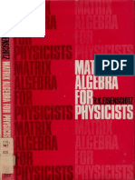 Eisenschitz MatrixAlgebraForPhysicists