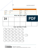 K2 - AUGUST 2016 - Math Worksheet