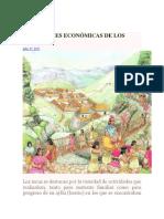 Actividades Económicas de Los Incas