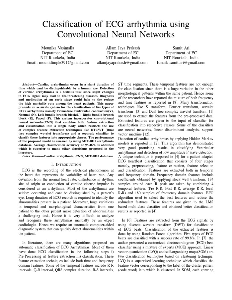 Mounika pdf | Statistical Classification | Electrocardiography
