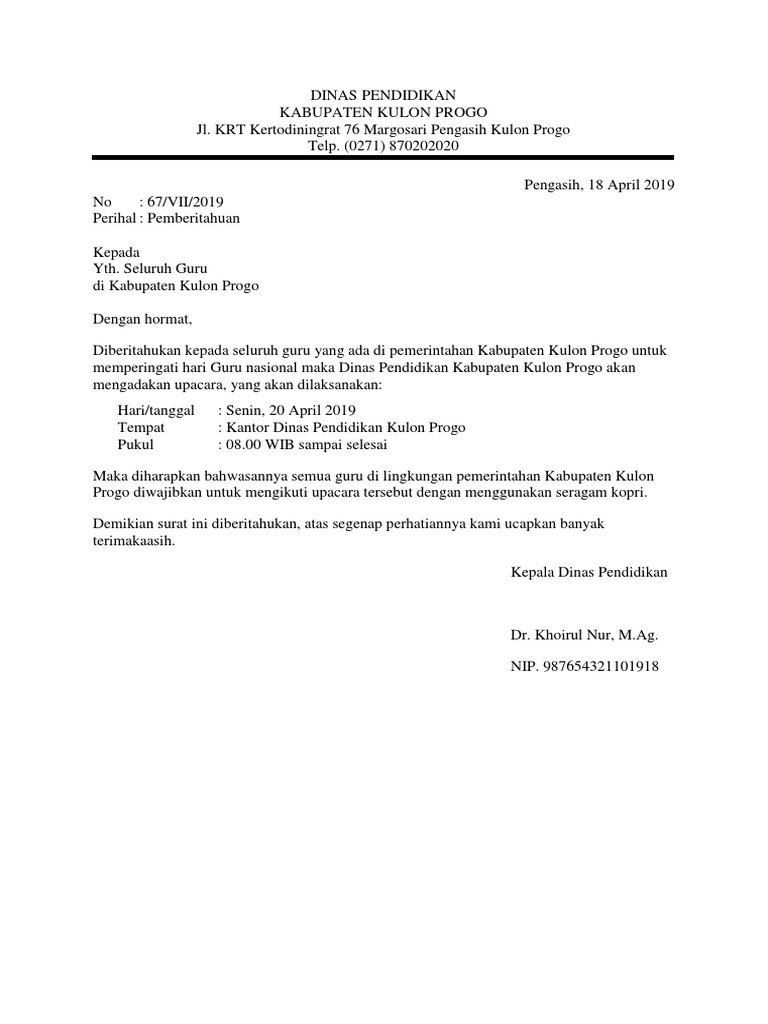Contoh Surat Dinasdocx