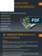 Exposicion Modulos de Control Electronico