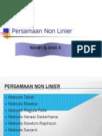 non linier 2