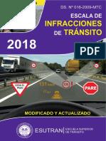 Escala de Infracciones 2018