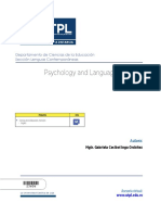 Psycology and Language Learning - Guia Didactica