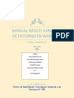 Manual Basico Variables de Entorno en Windows