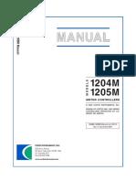 Curtis Controller 1205 Manual