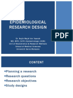 Introduction to Epidemiological Study Design for Undergraduate 2017