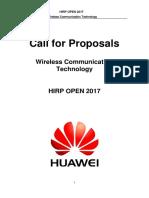 2017 HIRP OPEN Projects - Wireless Communication Technology