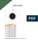 10 m Air Rifle Range Dimensions