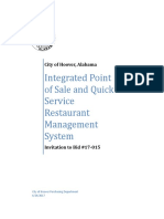 Bid 17-015 Integrated Point of Sale and Quick Service Restaurant Management System - FINAL
