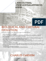Biological and Cultural Evolution AP Report