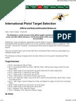 International Pistol Target Selection