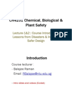 Lesson 1-2 CH4101 Intro, Inherent Safety