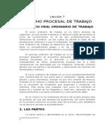 Lección 2.7) Derecho Procesal de Trabajo