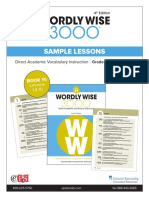 Wordly Wise 3000 4th Edition Book 11 Sample lessons