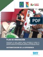 Plan de Innovación sobre el cierre de ciclo en Saneamiento Descentralizado