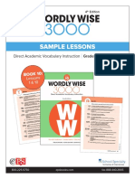 Wordly Wise 3000 4th Edition Book 10 Sample lessons