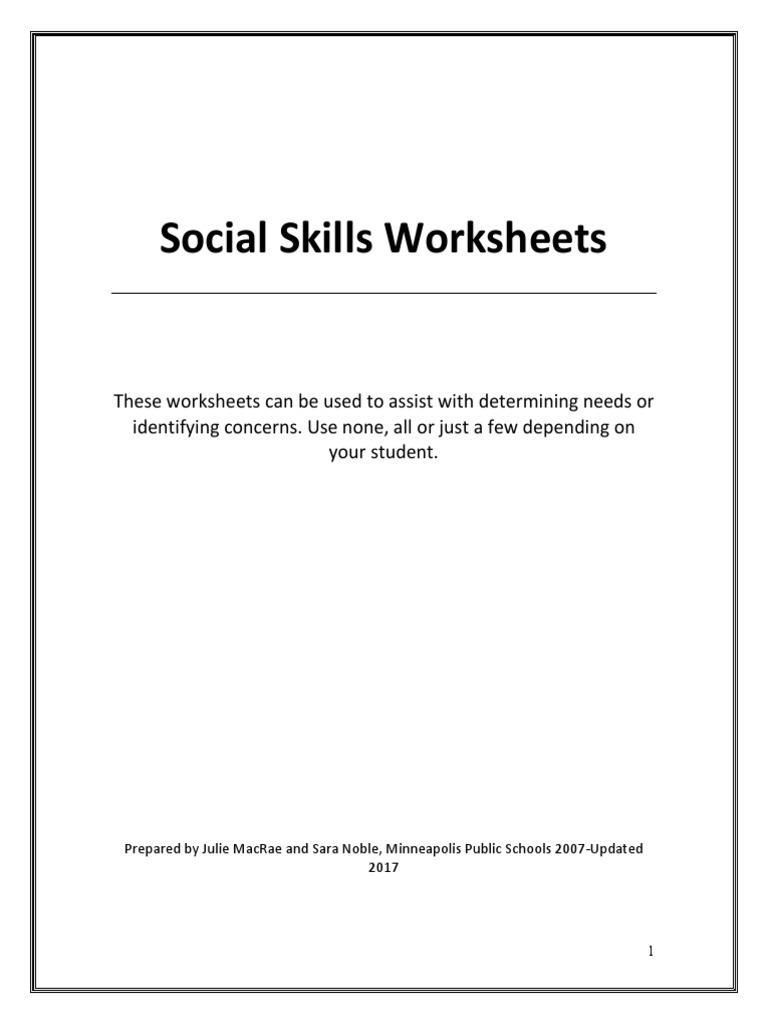 - Social Skills Worksheets Anger Social Skills Free 30-day