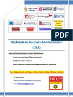 DBA Organizational Transformation (general motors)