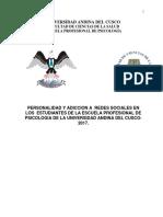 Tesis de Adiccion a Redes Sociales 20177