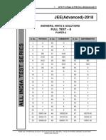 Aits 1718 Ft II Jee Advanced Paper 2 Sol