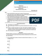Class 10 Mathematics 2014 Set-2