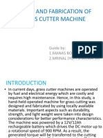 Project on protable grass cutter machine