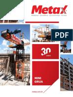 Catalogo Metax MiniGrua Elevador Cremalheira