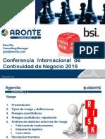 Conferencia Internacional Continuidad de Negocio 2016