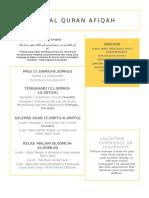 Jadual Quran Afiqah