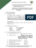 INFORME AMPLIACION DE PLAZO N° 01 CARRETERA SAN JUAN CHILLPACCA.doc