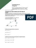 Razones Trigonométricas en Triángulos