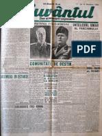 Cuvantul anul XVII (serie noua) nr. 32, 14 noembrie 1940