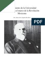 El nacimiento de la Universidad Nacional en el marco de la Revolución Mexicana