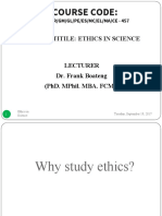 Ethics in Science 2