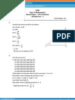 Class 10 Mathematics 2015 Outside-3 Solutions