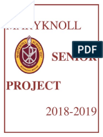 guidelines senior project 2018-19