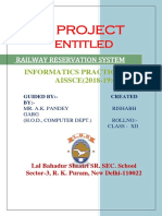 Railway Reservation System IP Project