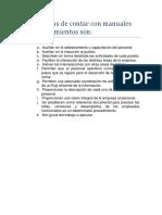 Ventajas de los Manuales de Procedimientos