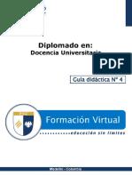 Guia Didactica 4-Docencia Universitaria