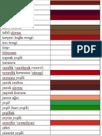 Türkçe Renkler