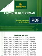 F.regimen General de Percepcion Tucuman