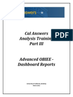 Cal Answers Analysis Training Part III. Advanced OBIEE - Dashboard Reports