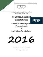 Apostila Bioestatística Completa Versão 2016