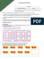 Evalaucion Matematica Viernes 6 de Abril